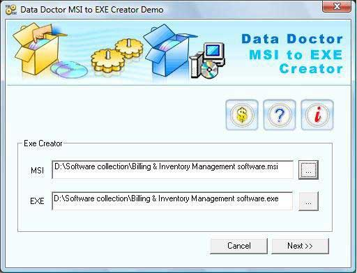 MSI to EXE, installer, files, setup, package, converter, convert, MSI, make, EXE