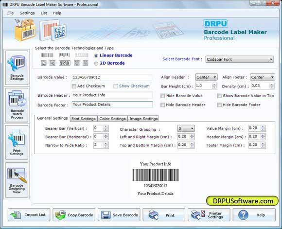 Screenshot of Streckkod System
