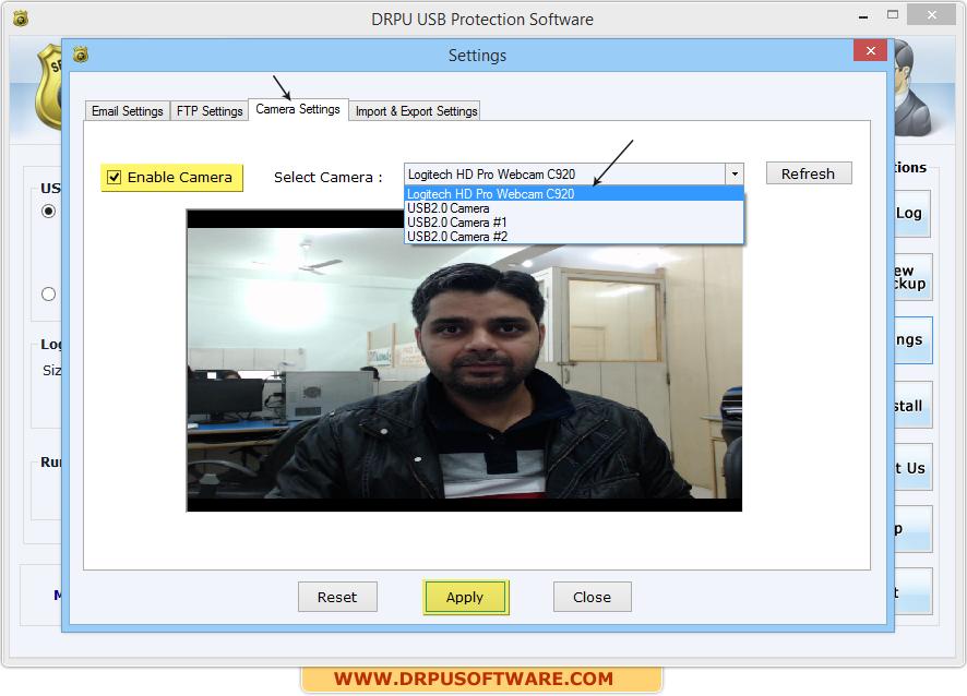 DRPU USB Data Theft Protection Software screenshots to track USB
