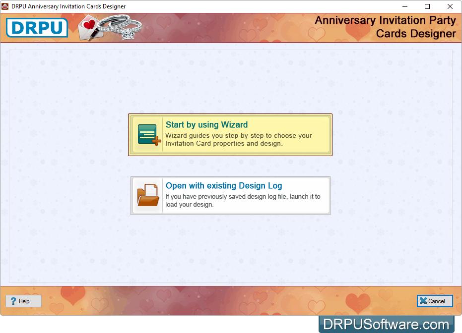 Freeware drpu anniversary invitation cards designer application start by using wizard stopboris Choice Image