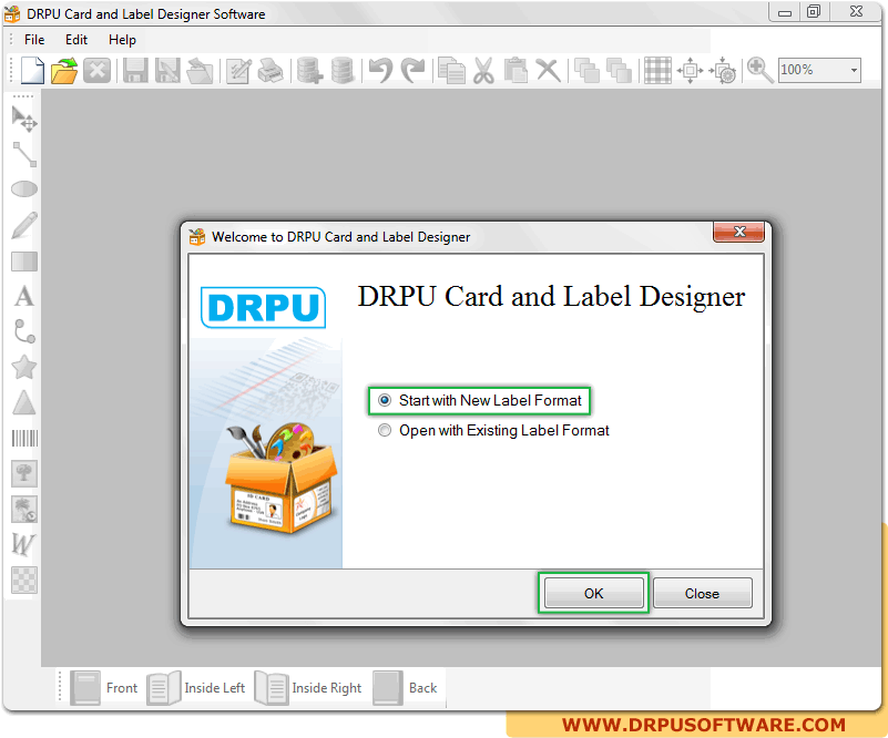 Screenshot Of Drpu Card And Label Designer Software To Know How To Design Card