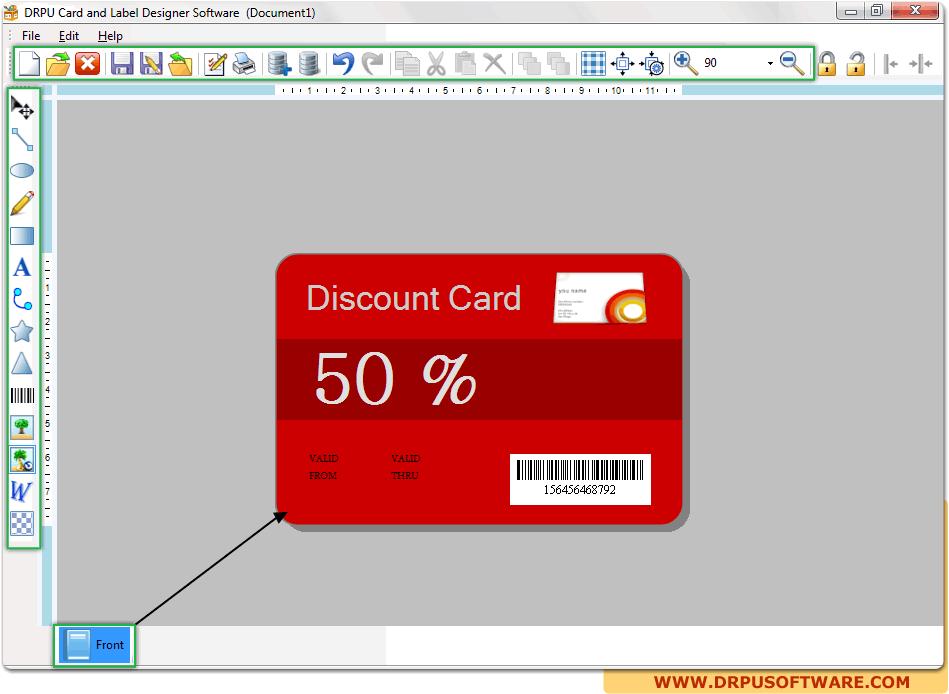Card And Label Designer Software Design Visiting Postcards Letterheads Envelopes