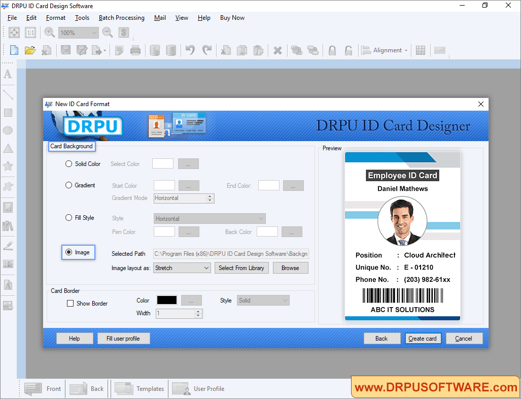 drpu id card design software design student employee id