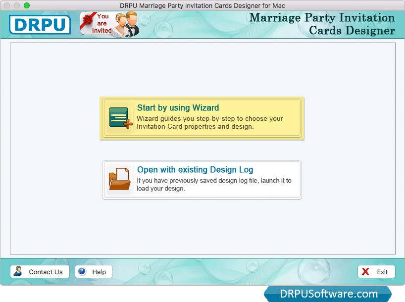 Freeware marriage party invitation cards designer for mac to create marriage party invitation card stopboris Choice Image