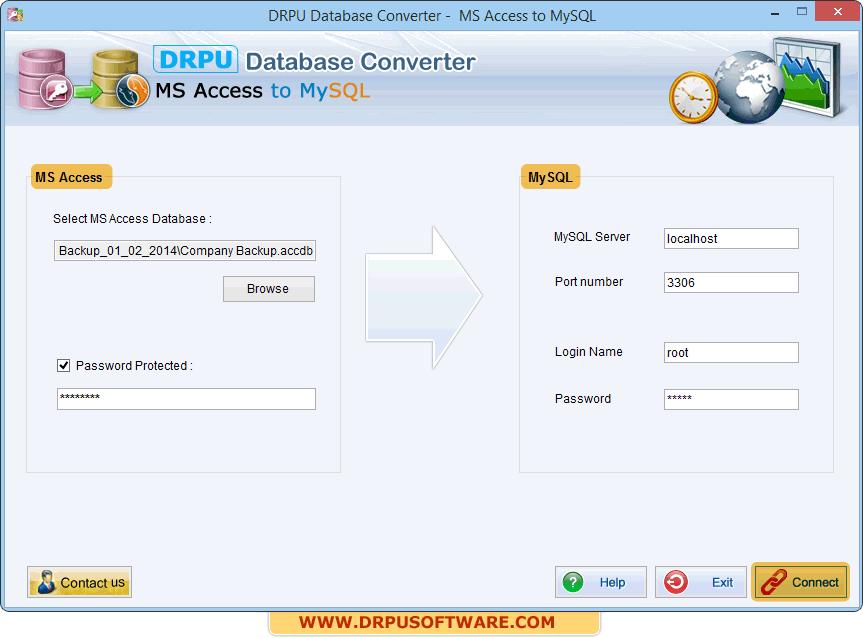 DRPU Database Converter – MS Access to MySQL migrate data