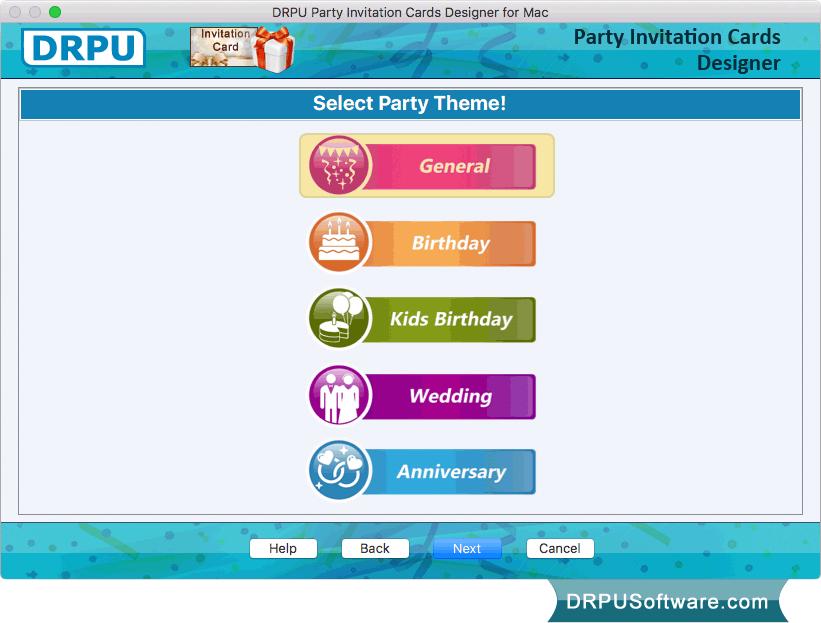 Freeware party invitation card maker software for mac by drpu software party invitation card filmwisefo