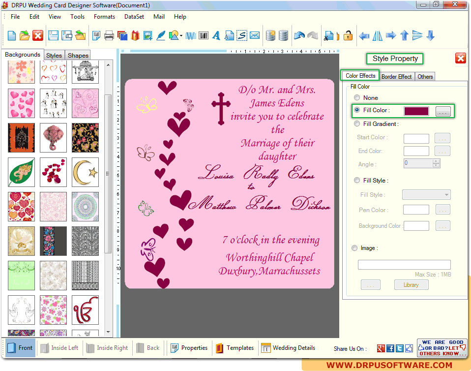 Drpu Wedding Card Designer Software Design Marriage Invitation Cards